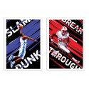 2 Art-Posters 30 x 40 cm - BasketBall and US Football - Dmitri Belov