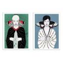 2 Art-Posters 30 x 40 cm - butterfly girls - Sofia Bonati