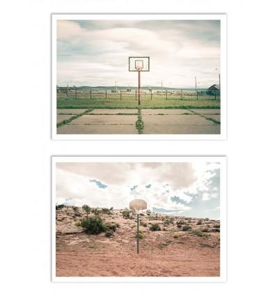 2 Art-Posters 30 x 40 cm - Streetball Courts  - Joe Mania
