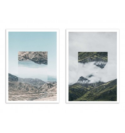 2 Art-Posters 30 x 40 cm - Mirrored Landscapes - Joe Mania