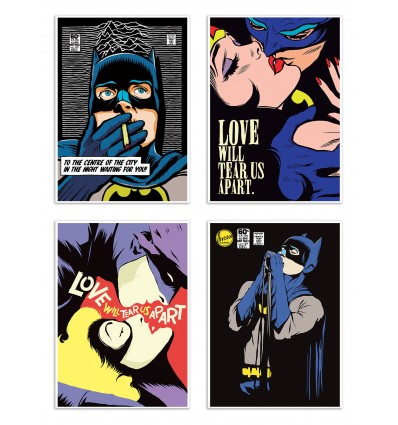 4 Art-Posters 20 x 40 cm - Pop Super Heroes - Butcher Billy