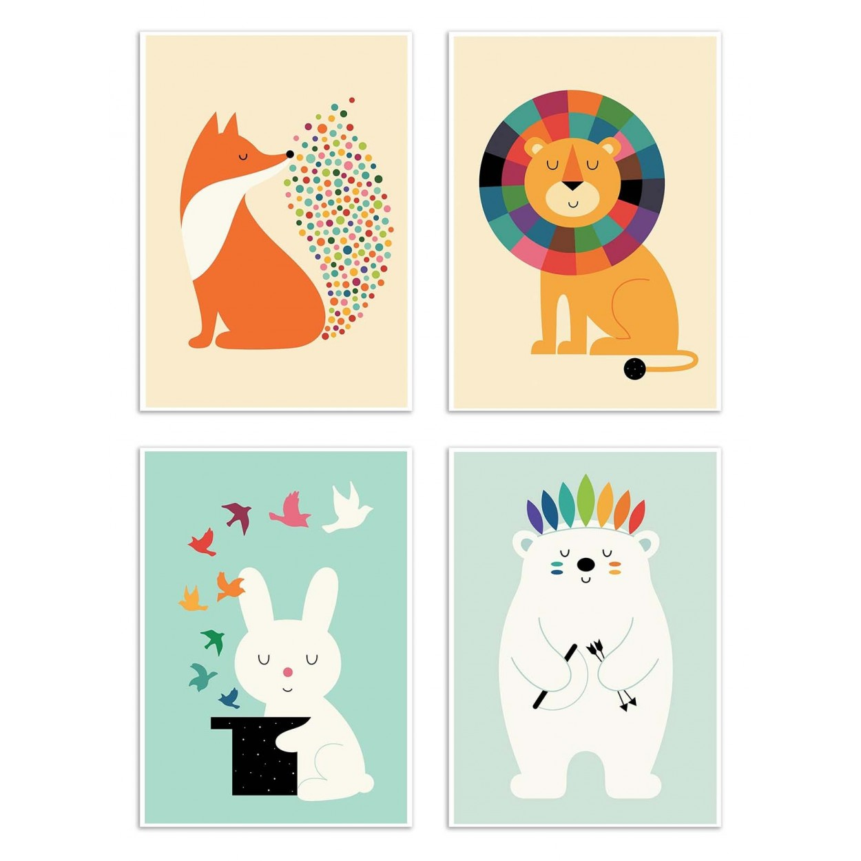 Illustration Photo Art Poster And Print Of Baby Animals