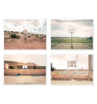 4 Art-Posters 20 x 30 cm - Streetball Courts  - Joe Mania