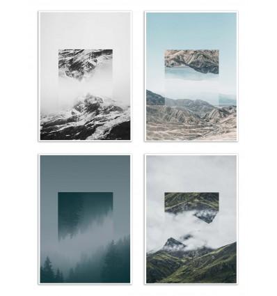 4 Art-Posters 20 x 30 cm - Landscape Mirrored - Joe Mania