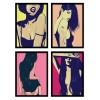 4 Art-Posters 20 x 30 cm - Sexy Girls  - Giuseppe Crisitano