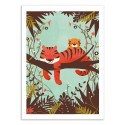 Art-Poster 50 x 70 cm - Sleeping Tiger - Jay Fleck