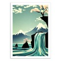 Art-Poster 50 x 70 cm - Waterfall Dreams - Yetiland