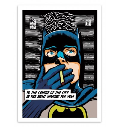 Art-Poster 50 x 70 cm - Post-Punk Bat - Butcher Billy