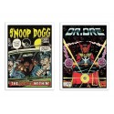 2 Art-Posters 30 x 40 cm - Snoop Dr Dre Comics - David Redon