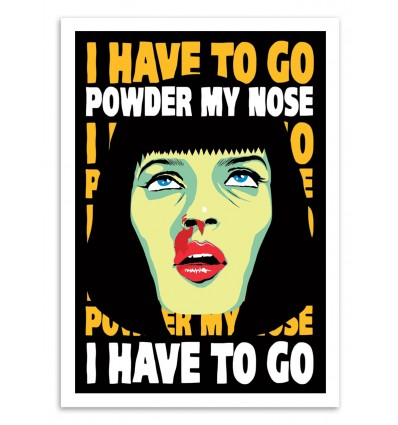 Art-Poster 50 x 70 cm - Powder my Nose - Butcher Billy