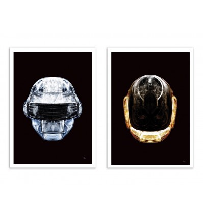 2 Art-Posters 30 x 40 cm - Daft Chrome and Gold - Rubiant