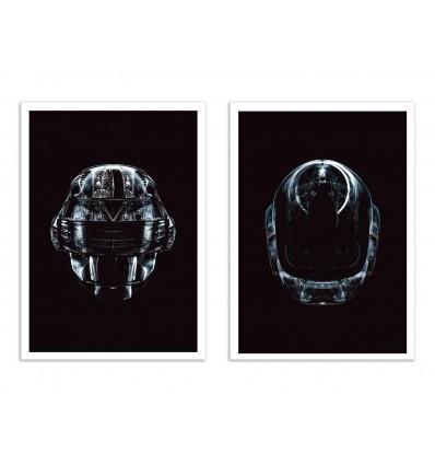 2 Art-Posters 30 x 40 cm - Daft Black - Rubiant