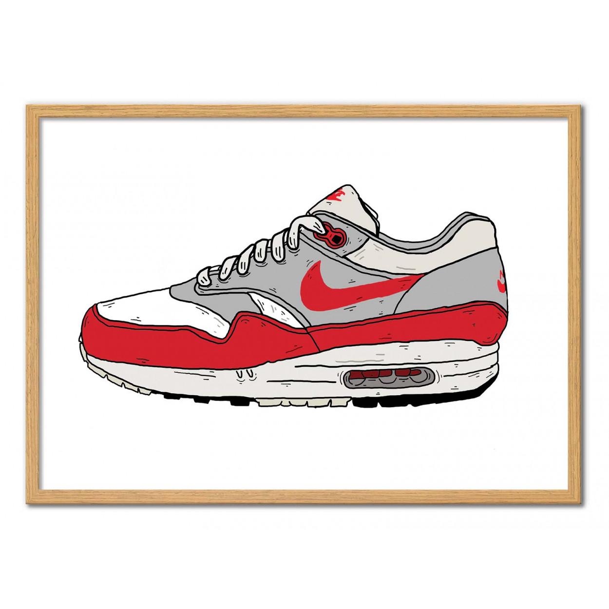 Affiche d'art Sneaker Illustration - Air Max - Nick Cocozza