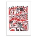 Art-Poster 50 x 70 cm - London Map - Fox and Velvet