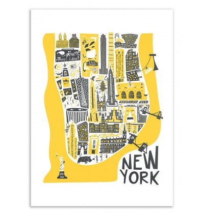 New-York Map - Fox and Velvet