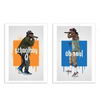 2 Art-Posters 30 x 40 cm - Schoolboy and Ab - Bokkaboom
