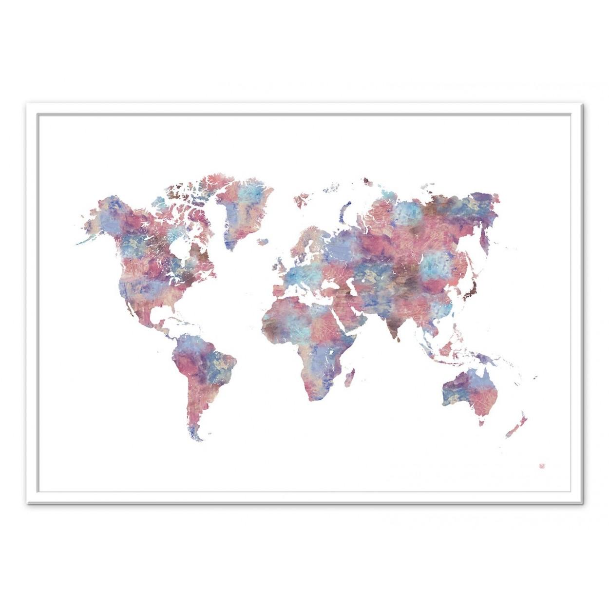 affiche d 39 art photo et poster design d 39 une carte du monde. Black Bedroom Furniture Sets. Home Design Ideas