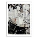 Art-Poster 50 x 70 cm - Pop Kiss - Loui Jover