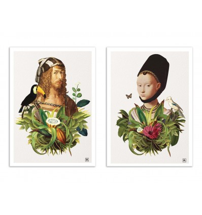 2 Art-Posters 30 x 40 cm - Duo Renaissance in the Jungle - Andriana Chunis