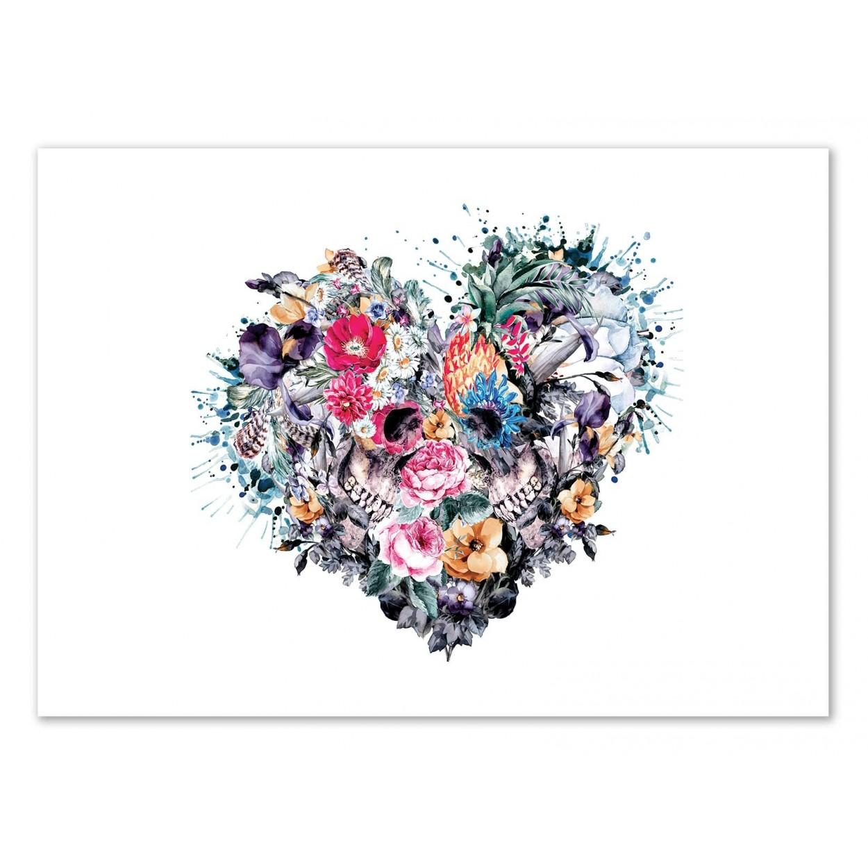 Tete de mort fleur galerie tatouage - Tete de mort fleur ...