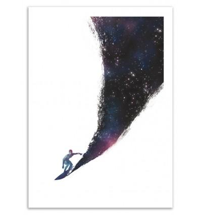Art-Poster 50 x 70 cm - Surfing the universe - Robert Rarkas