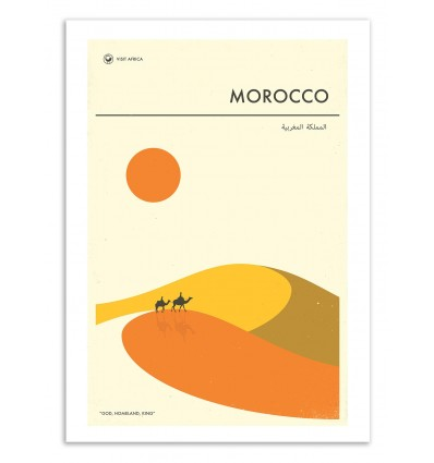 Morocco Travel Poster - Jazzberry Blue