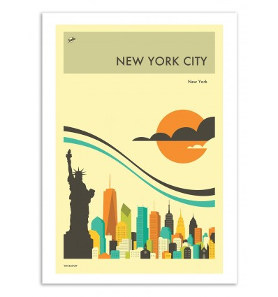 New-York Travel Poster - Jazzberry Blue
