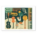 Art-Poster - Just Jazz II - Jazzberry Blue