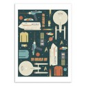 Art-Poster 50 x 70 cm - To boldly go - Tracie Andrews