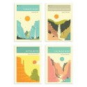 4 Art-Posters 20 x 30 cm - American National Parks - Jazzberry Blue