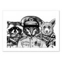 Art-Poster 50 x 70 cm - Badass Pets - Nicolas Côme