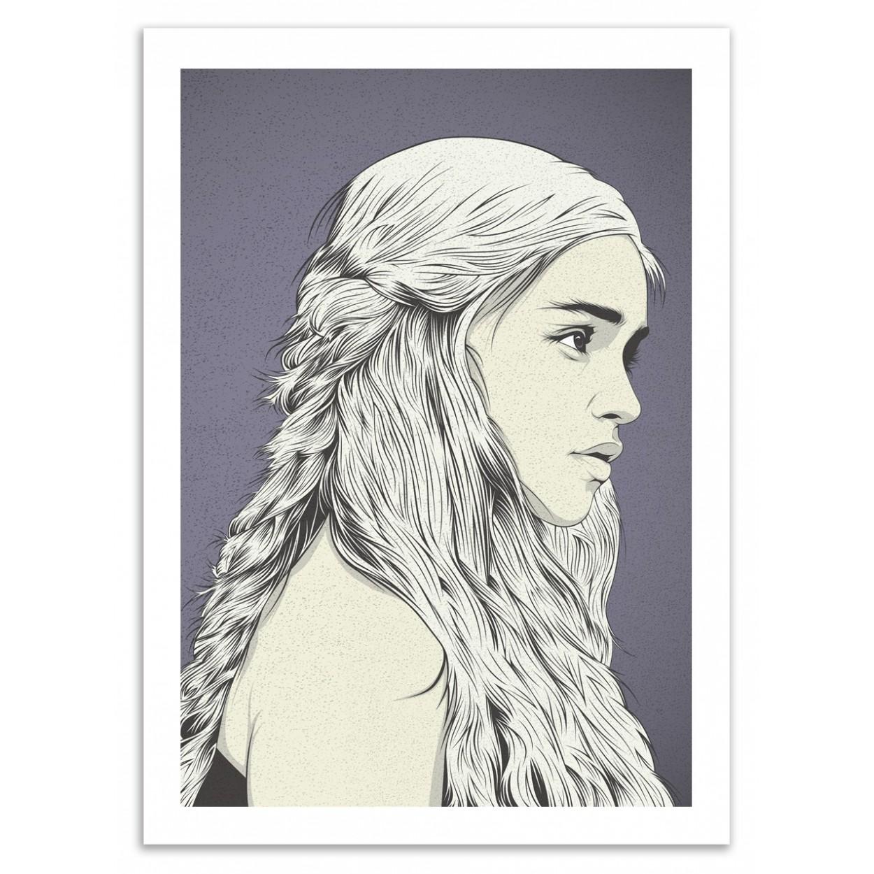 Khaleesi Art Poster (Game of Thrones) x Cranio Dsgn