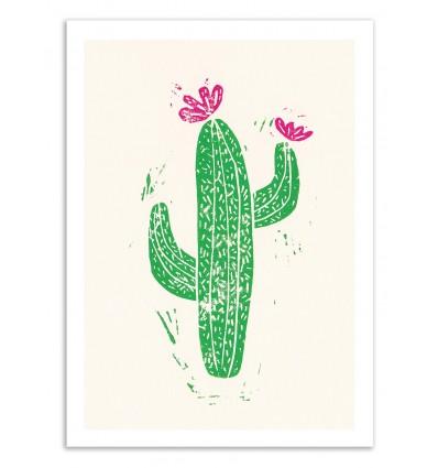 Linocut Cactus - Bianca Green