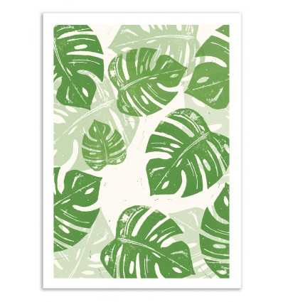 Linocut Monstera - Bianca Green