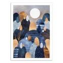 Art-Poster 50 x 70 cm - Little land of Pebbles II - Elisabeth Fredriksson
