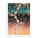 Art-Poster 50 x 70 cm - Ombre Dream Cubes - Elisabeth Fredriksson
