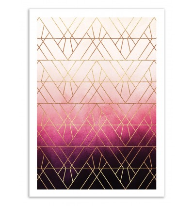 Pink ombre Triangles - Elisabeth Fredriksson