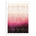 Art-Poster - Pink ombre Triangles - Elisabeth Fredriksson