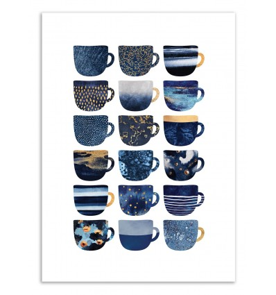 Pretty Blue Coffee Cubes - Elisabeth Fredriksson