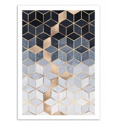 Soft blue gradient Cubes - Elisabeth Fredriksson