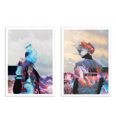 2 Art-Posters 30 x 40 cm - Duo Cooza Zaaco - Dorian Legret