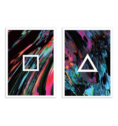 2 Art-Posters 30 x 40 cm - Duo Izi Saz - Dorian Legret
