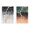 2 Art-Posters 30 x 40 cm - Duo Dream Cubes - Elisabeth Fredriksson