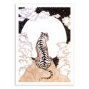 Art-Poster - Tiger Moon Glow - Ella Mazur