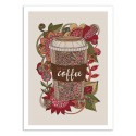 Art-Poster 50 x 70 cm - But first coffee - Valentina Harper