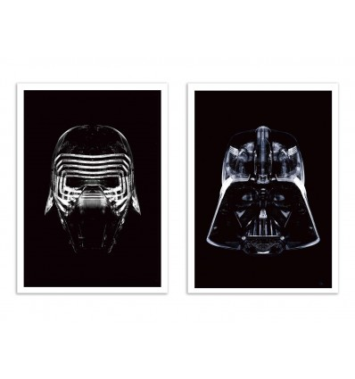 2 Art-Posters 30 x 40 cm - Duo Star Black - Rubiant