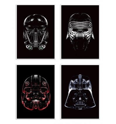 4 Art-Posters 20 x 30 cm - Pack Star Blacks - Rubiant