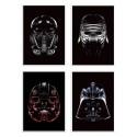 4 Art-Posters 20 x 30 cm - Pack Star Blacks - Rubiant