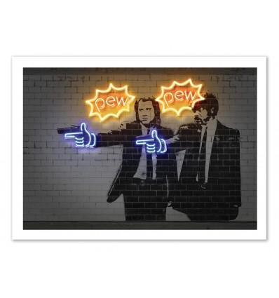 Illustration Art Poster Frame Print Of Pulp Fiction Pop Street