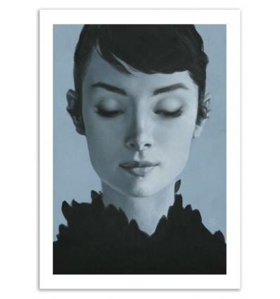 Art-Poster 50 x 70 cm - Audrey - Yuri Shwedoff